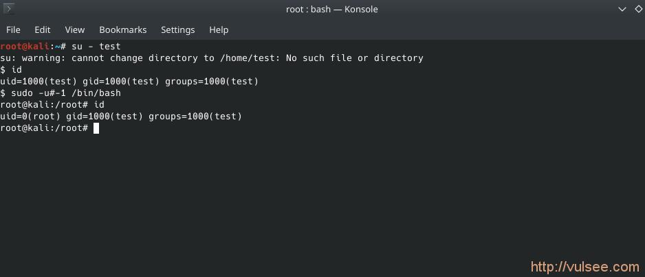 漏洞分析 linux sudo root 权限绕过漏洞(CVE-2019-14287)