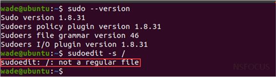 【漏洞通告】Linux sudo权限提升漏洞(CVE-2021-3156)